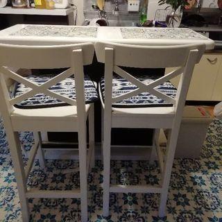 値下げ!ニトリのカウンターテーブルとイケヤの椅子