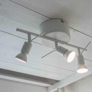 IKEA シーリングスポットライト3個 LED電球3個付き