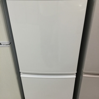【送料無料・設置無料】冷蔵庫 SHARP SJ-14Y-W② 中古