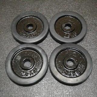 黒ラバーダンベルプレート 28mm ベンチプレス ボディビル 筋トレ用品