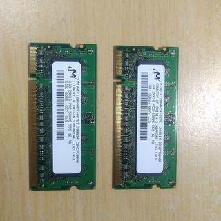 NEC メモリ DDR2 PC2-5300S 1GB x 2枚