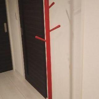 【お渡し決定しました】ポールハンガー 木製 赤色