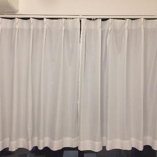 ニトリ ホワイトカーテン シンプル白カーテン