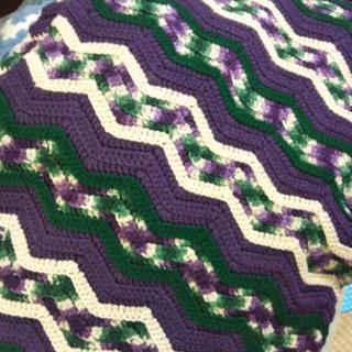 手編みブランケット