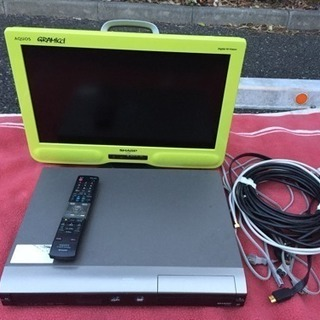 テレビ lc-20ne7 DVDレコーダー dv-ac82