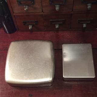 古道具 アルミケース アルマイト 弁当箱二個セット