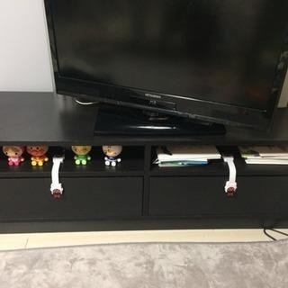 【引き取り可能の方】IKEAテレビボード(120cm幅・黒)