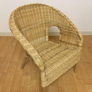 IKEA 子供用籐椅子