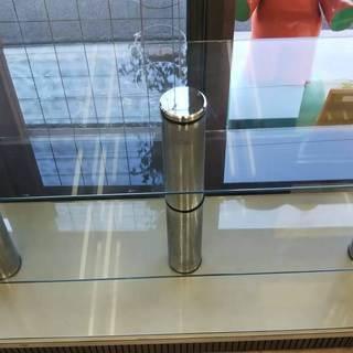 【お引き取り限定】ガラスの陳列棚 中古 三角形 長細 2種