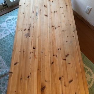 無垢パイン材 ローテーブル  無塗装