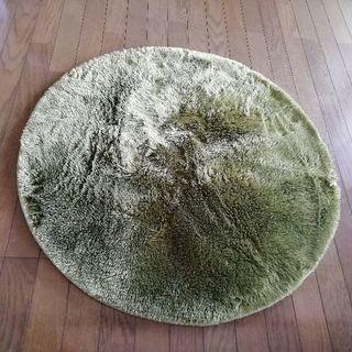 円形ラグ グリーン 90cm