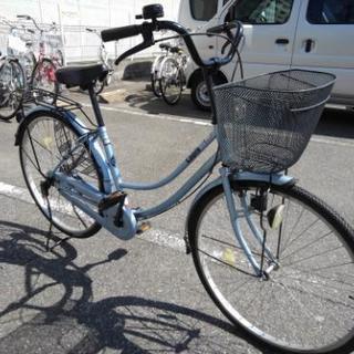 中古自転車407(防犯登録600円無料) タウンサイクル 26イン...