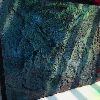 ジオラマ地面「岩場」ハーフサイズ:木板「受注・オーダーメイド」