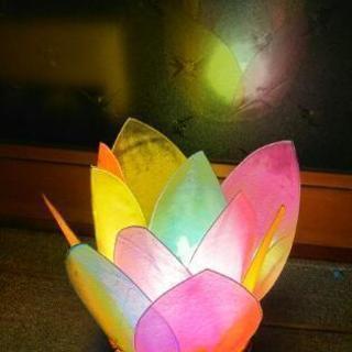 ティシュペーパーを使ったステンドグラス風ランプシェード