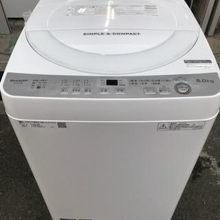 直引洗濯機 SHARP 2018年 6㎏洗い 1人~2人用 ES-...