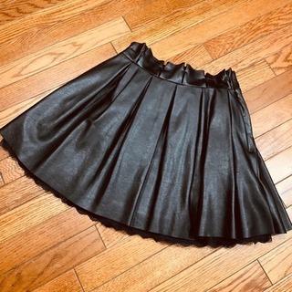 one spoフェイクレザーブラックスカート