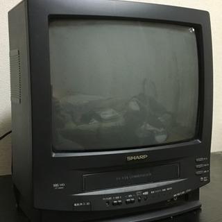 譲ります  シャープ14型テレビデオ