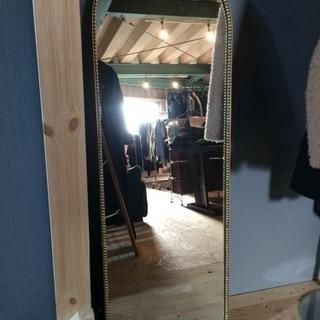 ヴィンテージ アンティーク ミラー 姿見 鏡