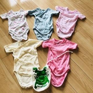新生児肌着(新品•綿100%• 5着セット)