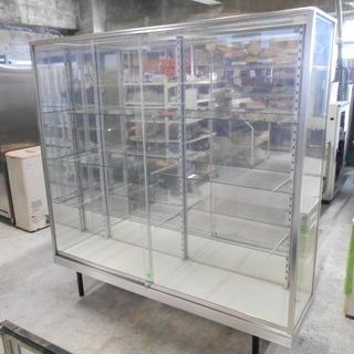 棚3段4面ガラスショーケース『良品中古』【リサイクルショップサルフ】