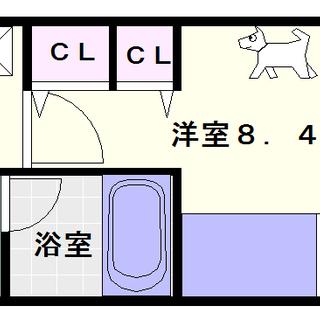 【レオンコンフォート難波南】8号タイプ!1Kタイプ!ネット使用料が...
