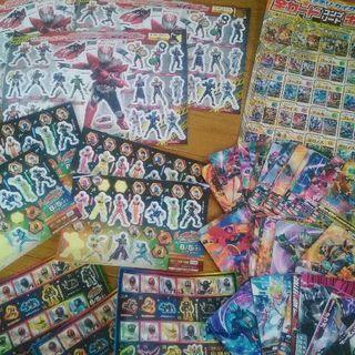 仮面ライダー&戦隊 シール+カード43枚