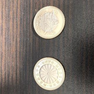 【板橋区手渡し限定】天皇陛下御在位30周年500円記念硬貨【2枚...