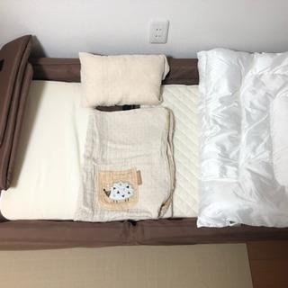 【ベビーベッド】ファルスカ コンパクトベッド 布団・枕付き