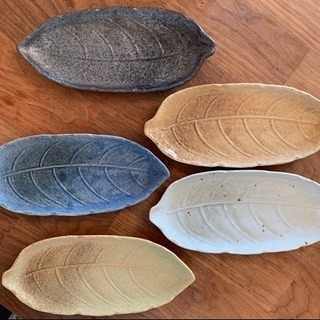 葉形和皿プレート