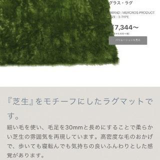 本物の芝生のような毛足のラグ