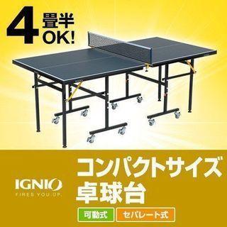 イグニオ IGNIO 特選品 卓球台 コンパクトサイズ 卓球台...