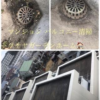 マンション アパートのバルコニー清掃 排水口清掃致します【所沢市...