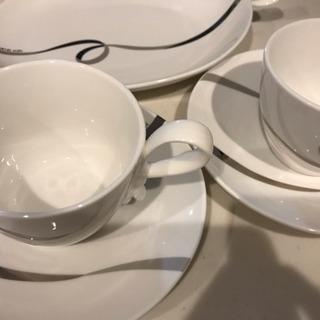 【新品】ミッシェル クラン トレー付きペアマグカップ