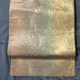 👘 正絹 袋帯 方形散らし 暈し 六通★銘入り