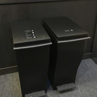 【美品】キャスター付ゴミ箱   スリムペダル ブラック 33L  ...