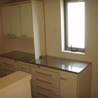 キッチン棚 ステンレス天板  3セット  中古  訳あり家具