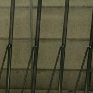 無塗装黒皮アイアン製!無垢の天板に!テーブル脚4本セット