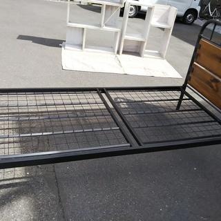 [シングルベッド木×鉄フレーム]⁑リサイクルショップヘルプ