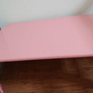 ローテーブル折り畳み式 パステルピンク