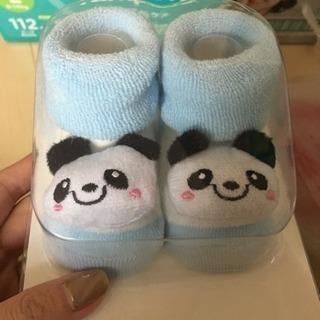 パンダのベビー靴下