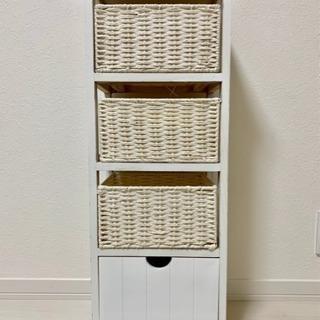 収納家具!引き出し収納 木材 ホワイト 白 カゴ