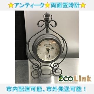 m294★ アンティーク 置時計 両面時計タイプ アンティーク サ...
