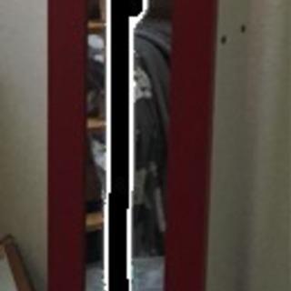 本、CDラック(鏡付き)★レッド