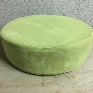 低反発クッション 円型 黄緑 直径50cm×高さ15cm