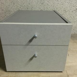木製 2段 収納ボックス 小物入れ 幅34cm×奥行42cm×高...