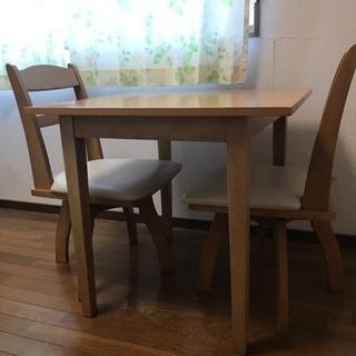ダイニングテーブル 椅子3つ付き