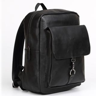 おしゃれなヴィンテージ加工 多機能リュック ポケット多数 ブラック