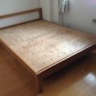 無印良品 木製 ベッドフレーム ダブル