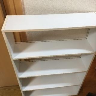 白い本棚×2