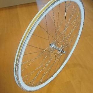 【差し上げます 】FUJI feather ピストの前輪ホイール
